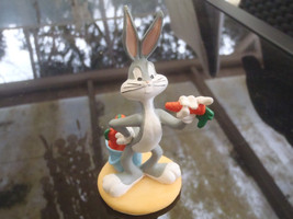 Extremely Rare! Looney Tunes Bugs Bunny with Basket Carrots Figurine Statue - $102.00
