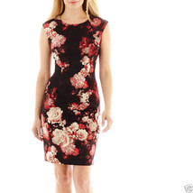R & K Originals Sleeveless Floral Print Scuba Dress Size 14P New Msrp $70 - $29.99