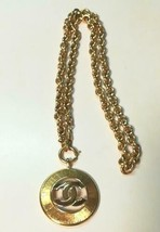 Auth Chanel Chapado en Oro cc Logo Vintage Charm Cadena CN0238 - $673.70