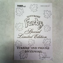 Electronic Furby Special Limited Edition Furbish And English Dictionary - $9.69