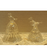 Vintage Hofbauer 'The Byrdes' Crystal Bell and Small Candleholder - $12.50