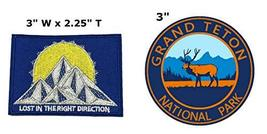 Lost in The Right Direction and Grand Teton National Park Series 2-Pack Embroide - $7.89