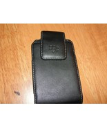 Blackberry Leather Phone Carrier with Clip and Magnetic Closure - New - $2.66