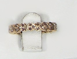 Heart Design Eternity Band Ring .925SterlingSilver GoldPlated with Pave ... - $125.00