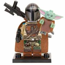 The Mandalorian and Baby Yoda Star Wars Custom Minifigures Building Toys Gifts - $3.99