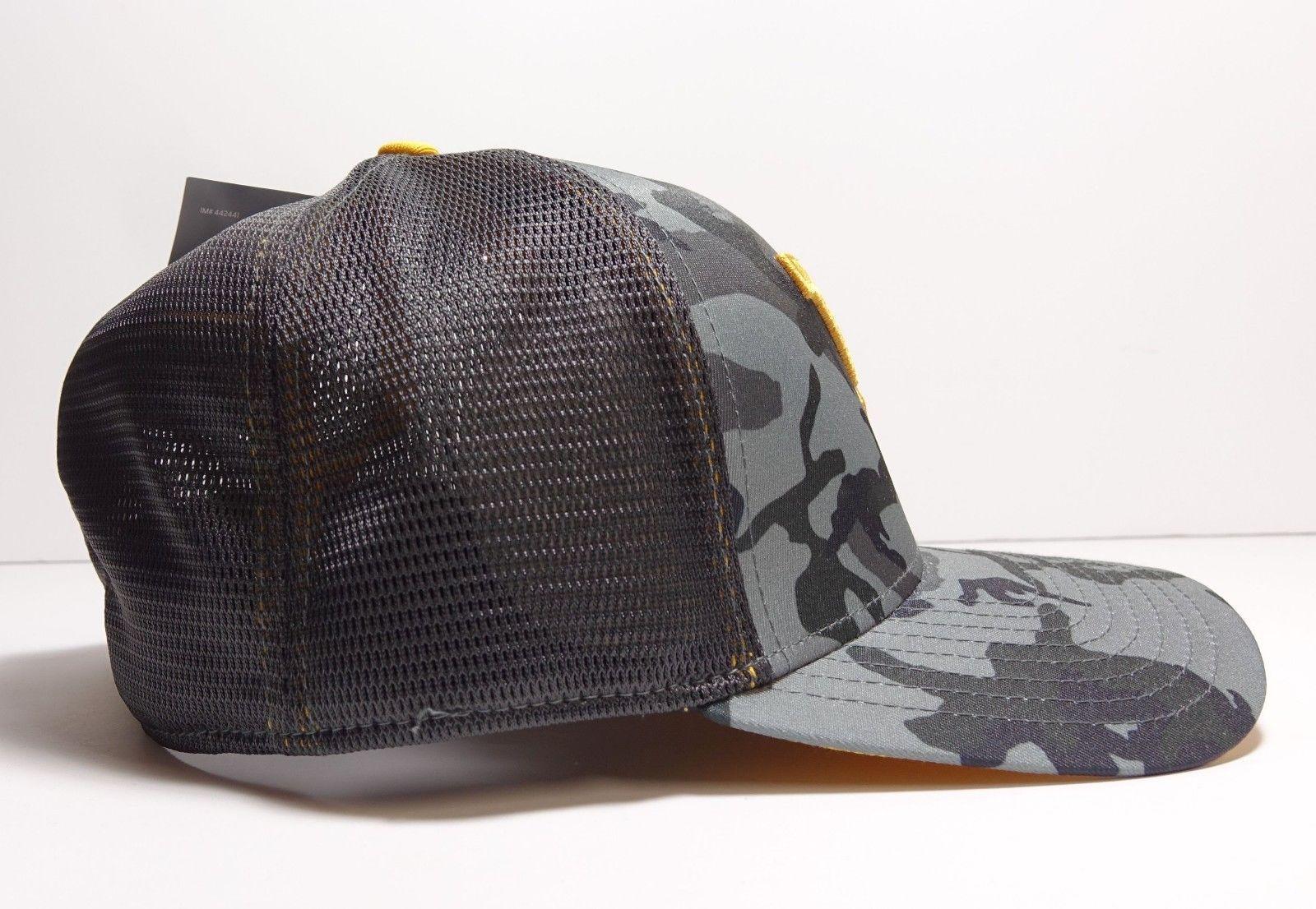 Nike West Virginia Mountaineers Gray Black Camo Swooshflex Hat One Size New