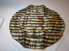 Avon Lace Print Jewelry Pouch draw string black gold F3484251 NEW;; - $29.69