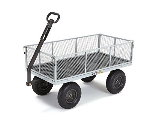 Gorilla Carts GOR1001-COM Heavy-Duty Steel Utility Cart with Removable Sides, 10