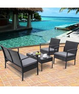 4 pcs Patio Rattan Wicker Furniture Set - $220.00