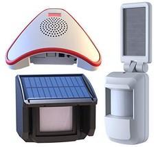 HTZSAFE Solar Wireless Driveway Alarm System-Includes 1 Alarm Receiver, ... - $89.54