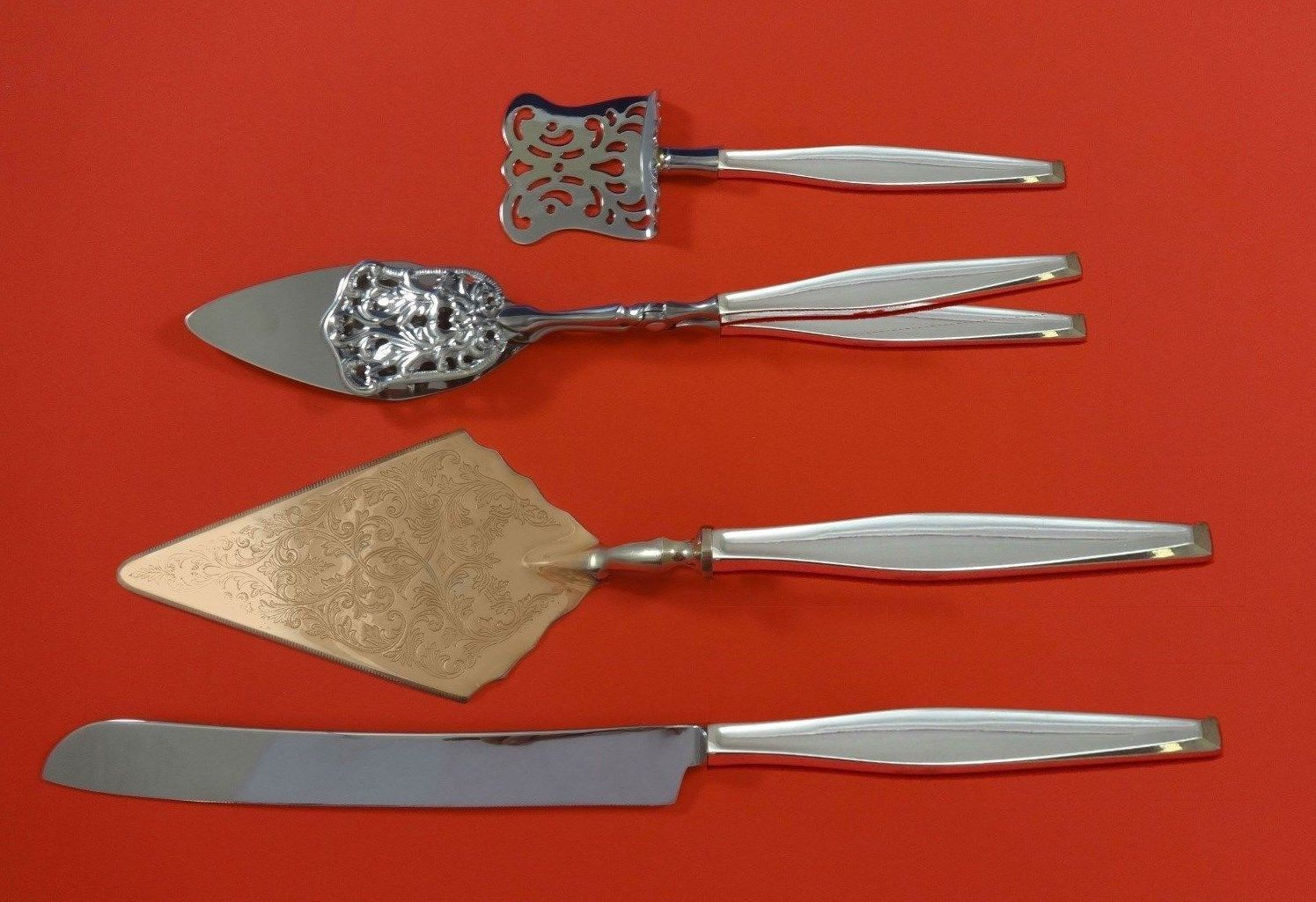 Primary image for Classique by Gorham Sterling Silver Dessert Serving Set 4pc Custom Made