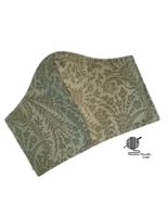 Sage Green Paisley Face Mask Cotton Fitted Facemask Washable Handmade USA - $12.95
