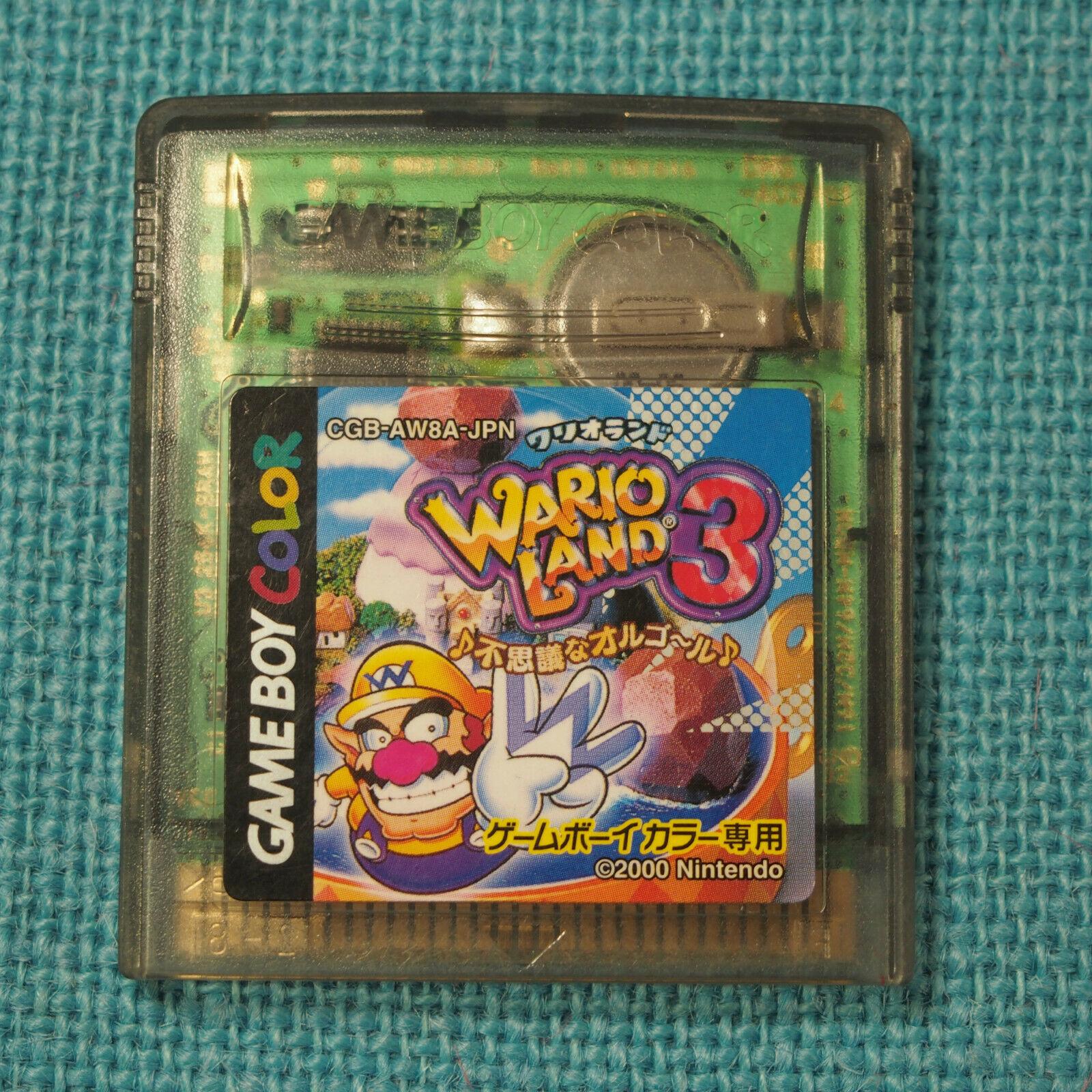 Wario Land 3 (Nintendo Game Boy Color GBC, 2000) Japan Import