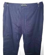 Allegra K Cargo Pants Blue Drawstring Pockets Flat Front 34 New - $25.73