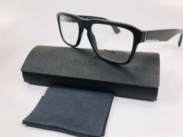 ✴ New Prada VPR 04S 1BO-1O1 Matte Black Eyeglasses 53mm with Prada Case - $98.75