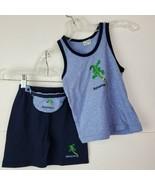 Bahamas Boy's Outfit Shorts Zip Fanny Pack Set Tank Top Blue SZ XL 4/5Y ... - $18.79