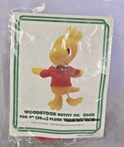 """Vintage Woodstock (Snoopy 10-11"""" Peanuts) Plush Clothes Red Polo Shirt  - $9.99"""