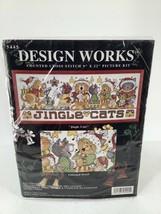 "Design Works Jingle Cats #5445 Counted Cross Stitch Kit by Joan Elliott 9x22"" - $23.36"