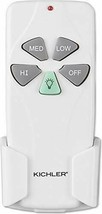 Kichler 337001WH, Three Speed and Light Dimming Remote Control, White (1... - $106.71