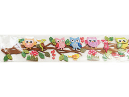 The Paper Studio Bright Owls 3-D Border Sticker #679126 for Scrapbooking, Cards image 2