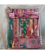Disney Store School Supply Kit Minnie Mouse (10 Pieces) Pencil Notebook ... - $18.49