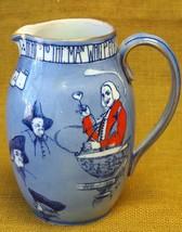Royal Doulton Antique Toasting Mottoes Seriesware Tavern Pitcher / Jug 1903 Blue - $98.01