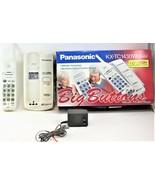 Panasonic Cordless Phone Model KX-TC1430W White Telephone Free Shipping - $24.74