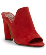Vince Camuto Gerty Suede Block Heel High Vamp Mules, Multiple Sizes Glam... - $99.95