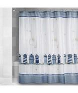 "Lighthouse Shower Curtain Fabric Nautical Shabby Chic New 72""x72"" Beach ... - $29.58"