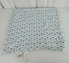 Aden & Anais Baby Boy Gray Blue White Triangle Muslin Swaddling Blanket - $26.72