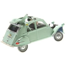 Crashed Citroen 2cv Castafiore The Emerald Voiture Tintin cars 1/43 image 2