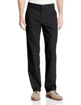 Haggar Men's Performance Cotton Slack Straight Fit Plain Front Pant,Black,38x32