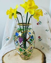 GOLD TRELLIS with ELEGANT DESIGN and HAND PAINTED BEES/FLOWERS - $43.56