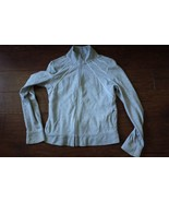 NEXT Small grey track suit sweatshirt zip jacket Sz UK10 Small S 100% co... - $1.90