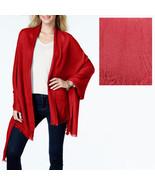 New ANNE KLEIN Boho Chic Heather Gauze Shawl Womens Wrap Scarf Red - $9.98