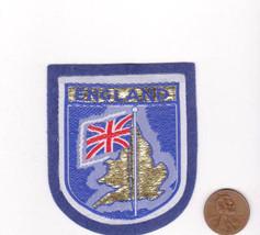 Vtg ENGLAND Patch-Travel Souvenir Vacation-Blue Felt-Europe-Flag-Island ... - $9.49