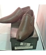 Ferrera Couture Italian Collection Men's Brown Slip On Dress Shoes Sz 9 ... - $19.75