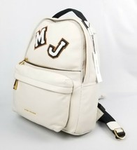 $595 Marc Jacobs Varsity Vintage White Leather Patch Large Women's Backp... - $333.67