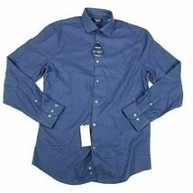 Original Penguin Dress Shirt Blue Heritage Slim Fit Comfort Stretch 16.5... - $17.18