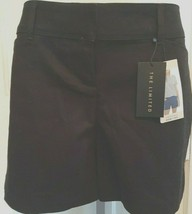 Womens Sz 10 Limited Black Cotton Blend Tailored Shorts $50 MSRP - $23.28