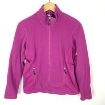 Nike Fit Therma Fleece Women's Full Zip Jacket Purple Magenta Size Small... - $14.50