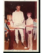 BOBBY ADAMSON ON TRACK WITH KIDS-RACE PHOTO-1972 - $12.37