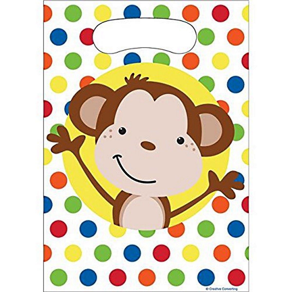 Fun Monkey Plastic Loot Bags (8 CT)