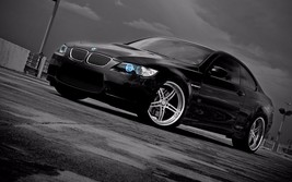 2011 BMW 5 series Forged wheels 24X36 inch poster, sports car - $18.99