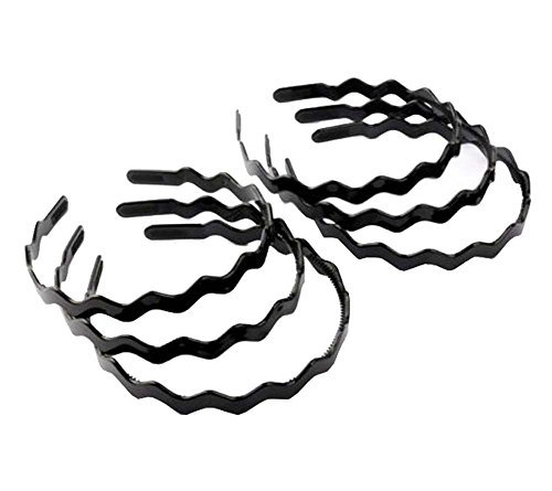 Primary image for Beauty Hair,Unisex Black Spring Plastic Hoop Hair Band Head Accessory (6 PCS),#F