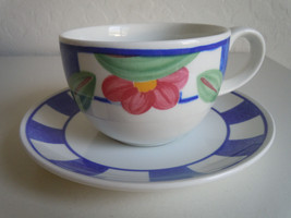 Johnson Brothers Hopscotch Blue Cup and Saucer Set - $6.30