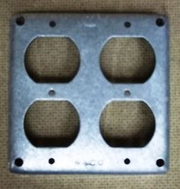 Raco Cover 4in Square 2 GFCI Receptacle Steel - $5.80