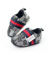 Black Baby Boys Girls Sports Walking Shoes Soft Bottom Toddler Shoes G5556 - $16.99