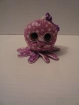 "Ty Beanie Boos 4"" Purple Octopus Clip On 2014 - $4.94"