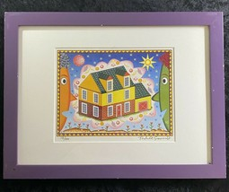 Rodney Greenblat Computer Graphic Print Dream House With Fruit 12/100 Si... - $247.49